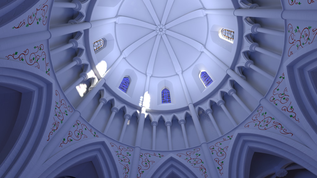 Temple-Bruer-Nave-dome-view